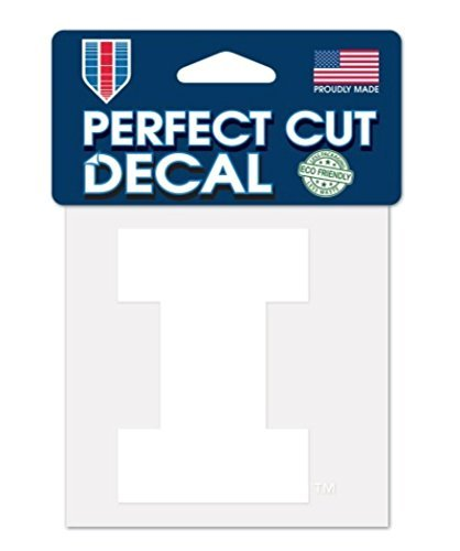 WinCraft NCAA Illinois Illini Decal4x4 Perfect Cut White Decal, Team Colors, One Size