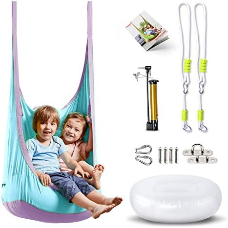 HAPPY PIE PLAY ADVENTURE HappyPie Frog Folding Hanging Pod Swing Seat Indoor and Outdoor Hammock