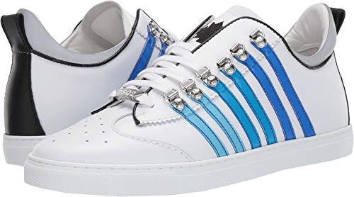 (DSQUARED2 Men's 251 Tennis Sneaker White/Blue 42 D EU)
