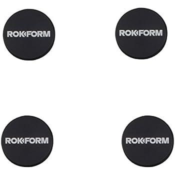Rokform BAM 1 inch Adhesive Universal Magnetic Aluminum Phone Car mount/holder. Quad Pack (Black)