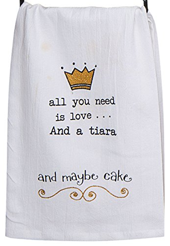 Kay Dee Designs A8551 Tiara Krinkle Flour Sack Towel with Gl