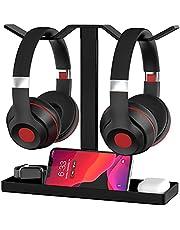 Headphone Stand, MOCREO Acrylic Dual Balance Headset Stand Gaming Headphone Holder/Mount/Hanger, Desktop Headset Holder/Mount/Hanger, Extra Thick