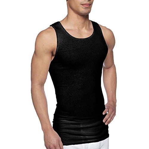 cheap Gildan Men's 4-Pack Premium A-Shirts, 2 Black / 2 Grey on sale