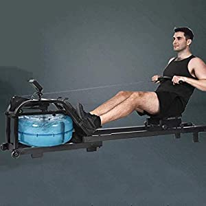 Hammer Water Rower, Rowing machine Water Trac Glider Machine Rower w/Digital Monitor,Glider Cardio Fitness Equipment Water Resistance,440 LB Weight Capacity for Home Gym