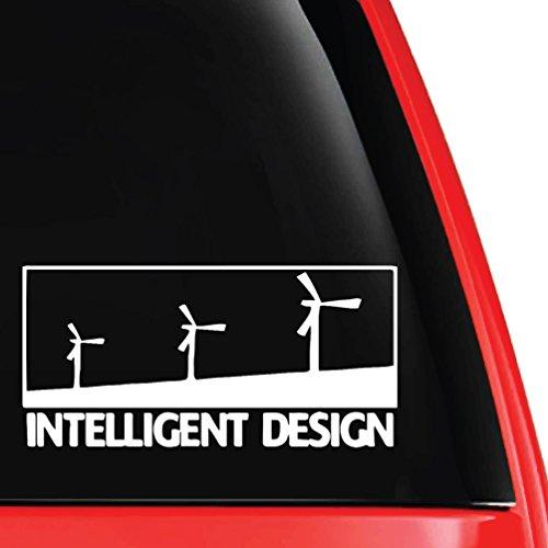 - EvolveFISH Intelligent Design Windmills Vinyl Decal White 5
