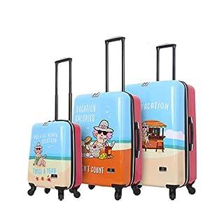 HALINA Aunty Acid Vacation 3 Piece Set Luggage, Multicolor, One Size