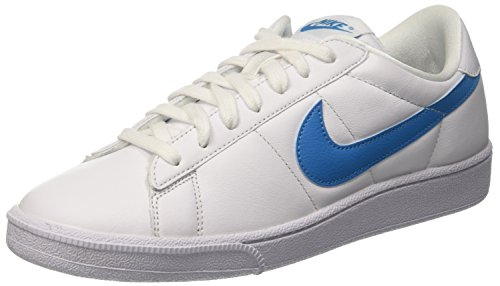 Nike Men's Tennis Classic White/Orion Blue Leather Fashion Sneaker - 10M (Nike Leather Tennis Shoes Men)