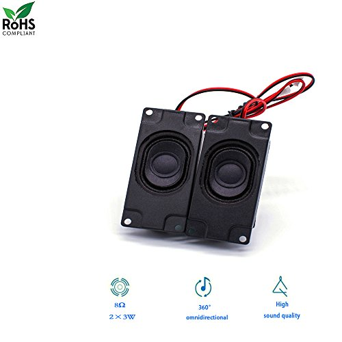 Mini Audio Magnet Raspberry Pi and Arduino Speaker 3 Watt 8 Ohm JST - PH2.0 Interface Balance Connect Rectangle Passive Horn Trumpet Loudspeaker