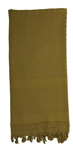 Rothco Solid Color Shemagh-Tactical Desert Scarf, Olive Drab