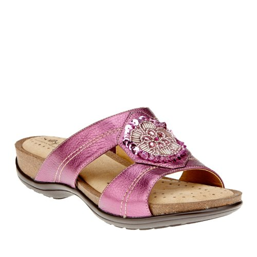 (softspots Mindy Slide Sandals, Berry, 6 W/D)
