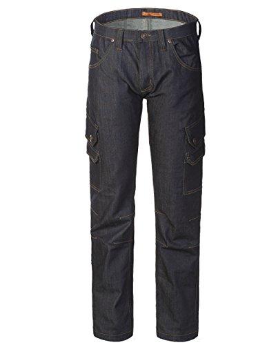 Denim Gamba Cargo A00143 Jeans Morbido Elasticizzato Dritta Uomo Blu PYgtvUqw