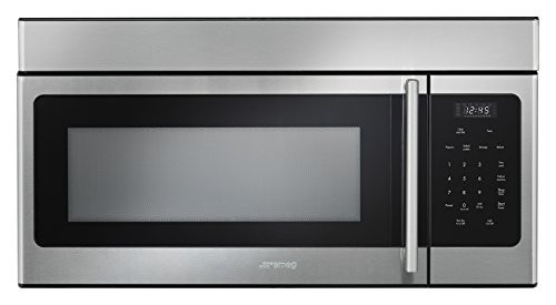 Smeg OTR316XU Over The Range 1000W Microwave with Hood Function, 30', Stainless Steel