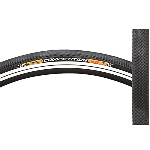Roubaix Road Bike - Continental Competition Tubular Road Bicycle Tire with Black Chili (28x22, Tubular, Black)