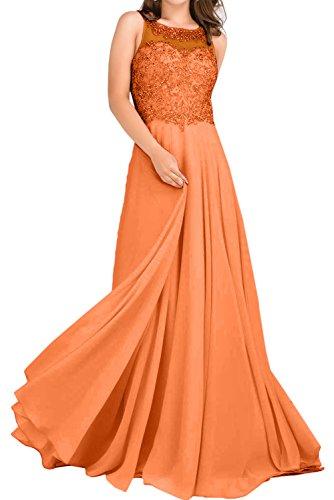 Vestido naranja trapecio Topkleider mujer para pxU00q