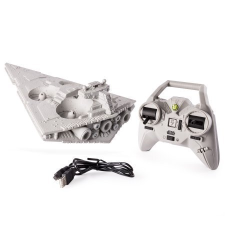 1 Pack - Star Wars Air Hogs Star Destroyer DroneAir Hogs Star Wars Star Destroyer Drone is the ultimate Imperial spaceship! Take the reins and pilot the iconic Star Destroyer with the 2.4GHz remote control for 250ft range. This symbol of the ...