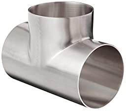 Dixon B7WWW-G300P Stainless Steel 304 Polished Fitting, Weld Short Tee, 3\