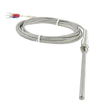 Controlador de Sensor de termopar sonda eDealMax 3M 0-400 CK Tipo Temperatura: Amazon.com: Industrial & Scientific
