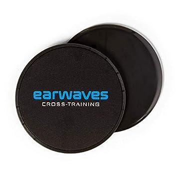 Earwaves ® - Discos deslizantes Fitness de Doble Cara para Abdominales. Core Sliders Ideales para Gym, Fitness, Yoga, Pilates, etc.