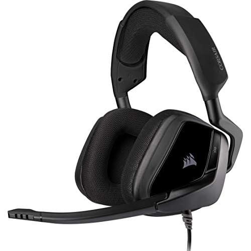 chollos oferta descuentos barato Corsair Void Elite Stereo Auriculares para Juegos Tejido Microfibra Transpirable Almohadillas Espuma Memoria Micrófono Omnidireccional Optimizado Compatibles Varias Plataformas Negro
