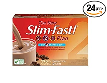 Amazon Com Slim Fast 3 2 1 Plan Ready To Drink Shake Cappuccino