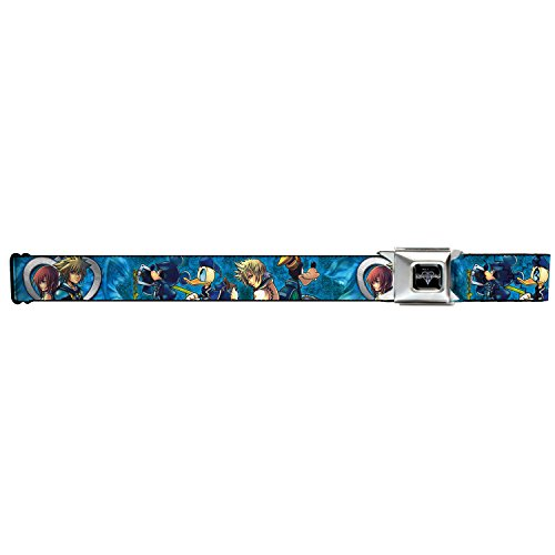 [Walt Disney Movies TV Shows Kingdom Hearts Cast Seatbelt Belt] (Heart Cool Belt Buckle)