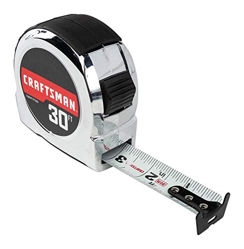 (CRAFTSMAN Tape Measure, Chrome Classic, 30-Foot (CMHT37330S))