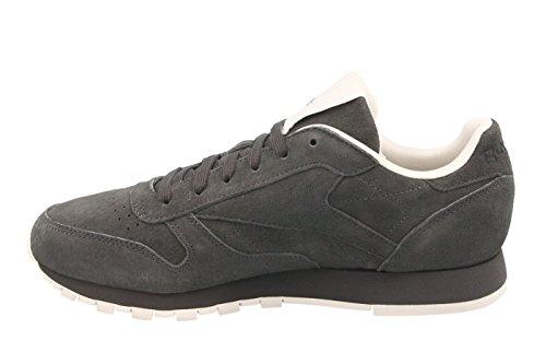 Reebok Damen Classic Leather Tonal NBK Gymnastikschuhe Grau (Ash Greypale Pink)