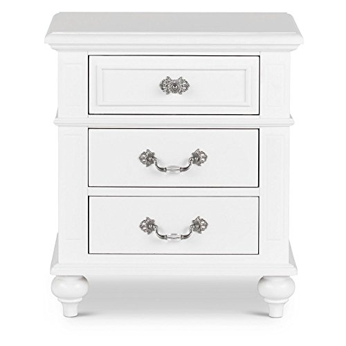 Picket House Furnishings Annie Nightstand Transitional/White/Solid Rubber Wood by Picket House Furnishings