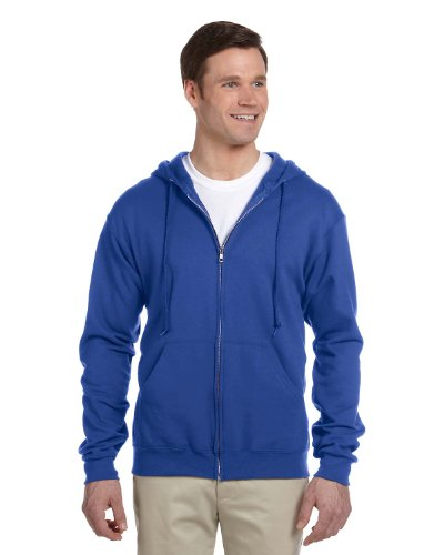 (Jerzees Nublend Men's Full-Zip Hooded Sweatshirt, Royal, X-Large)