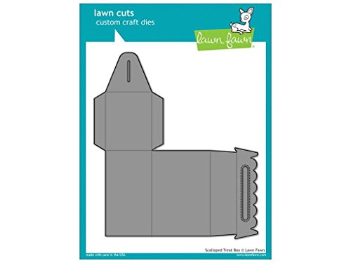 Lawn Fawn Lawn Cuts Custom Craft Die - Scalloped Treat Box (LF1232) by Lawn Fawn