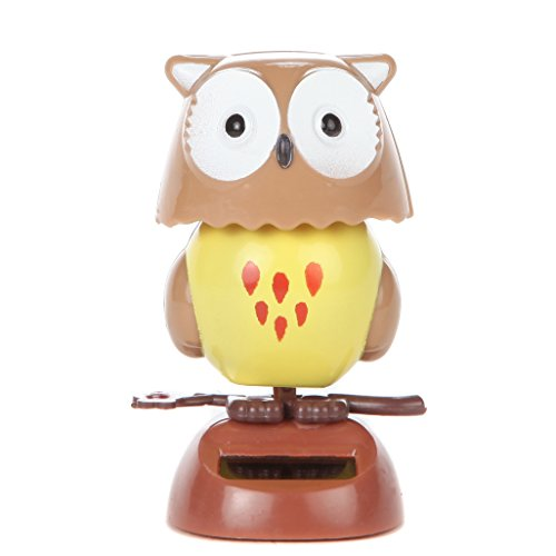Home-X - Solar Dancing Owl Toy, Fun, Educational and Eco-Friendly Toy for Kids of All Ages, Compatible with Indoor and Outdoor Lighting