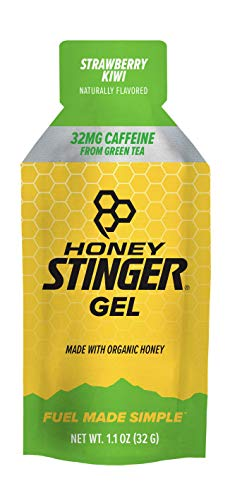 Honey Stinger Organic Energy Gel, Strawberry Kiwi, 1.1 Ounce (Pack of 24)
