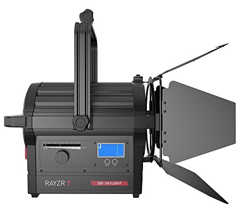 ILED-H Rayzr 7 300W Daylight Fresnel LED Head with 4 Leaf Barndoor and Carrying Case by ILEDGear