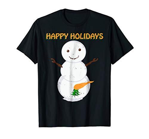 Naughty Dirty Carrot Snowman Funny Ugly Christmas Shirt Gift]()