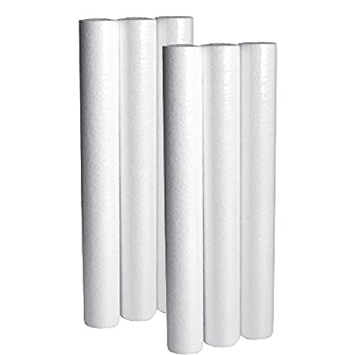 In Home Water Filter Cartridge Pack - Sediment Filtration Cartridges For Your Home 20'' Height x 2.5'' Width (6Packs) by LifeSource Water Systems