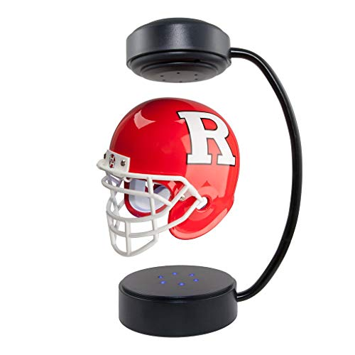 - Rutgers Scarlet Knights NCAA Hover Helmet - Collectible Levitating Football Helmet with Electromagnetic Stand