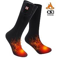 SVPRO Rechargeable Electric Battery Heated Socks Cold Weather Thermal Socks Sport Outdoor Warm Winter Socks Men Women