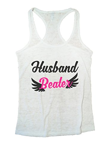 (Funny Threadz Womens Burnout Husband Beater Tank Top Funny Gym Shirt (Medium,)