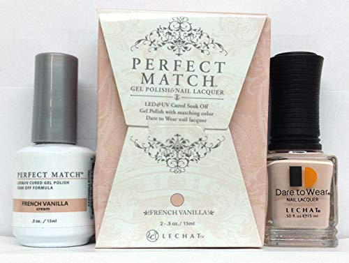 Perfect French Nail (Lechat Perfect Match Gel Polish + Matching Nail Polish PMS223 French Vanilla)
