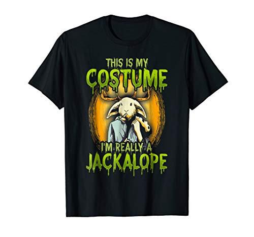 Jackalope Shirt Halloween Costume Mythical Jackrabbit Hunter]()