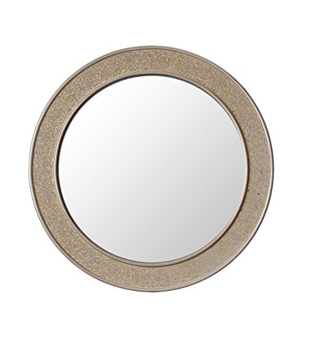 Round Mosaic Champagne Gold Wall Mirror - Large - 60 cm diameter - Bathroom Lounge Hallway by Inner Reflection by Casa Chic by Inner Reflection by Casa Chic