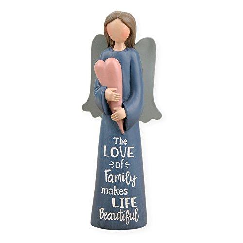 Blossom Bucket Love of Family' Angel W/Heart Home décor