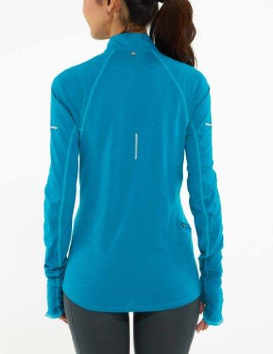 Nike Dri-fit Lana Mezza Zip Stile: 433140-358 Misura: Xl Bruciato Turchese / Neo Turchese / Argento Riflettente