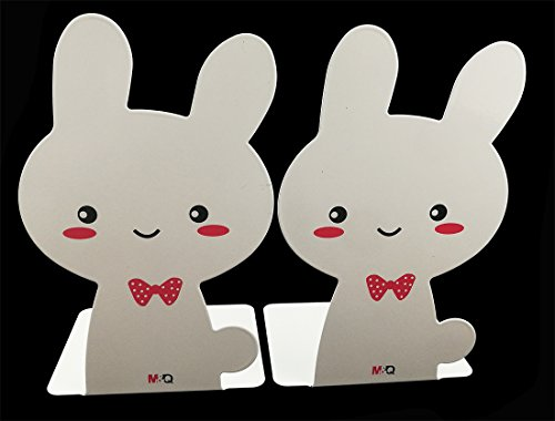 A Pair Of Cute Cartoon Rabbit Nonskid Metal Bookends, used for sale  Delivered anywhere in USA