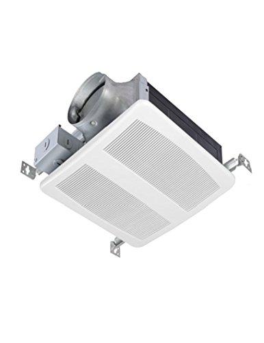AirZone Fans SES-80H 26 gauge Galvanized Housing Low Profile Premium Ultra Quiet Vent Fan with Humidity Sensor, 80 CFM, 4