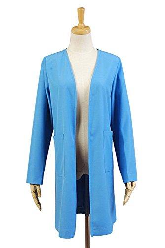Beverly Crusher Costume (Ya-cos Female The Next Generation Spring Autumn Coat Costume Blue)
