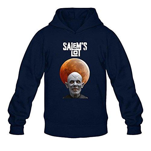 Tommery Men's Salem's Lot Long Sleeve Sweatshirts Hoodie (Jim Carrey Halloween Song)