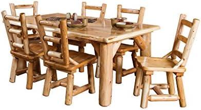 Furniture Barn USA Juego de Mesa de Comedor y sillas rústicas de Color Blanco con Letras de Cedro: Amazon.es: Juguetes y juegos