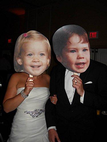 (Single Pack Build A Head Wedding Big Heads Cardboard Face)