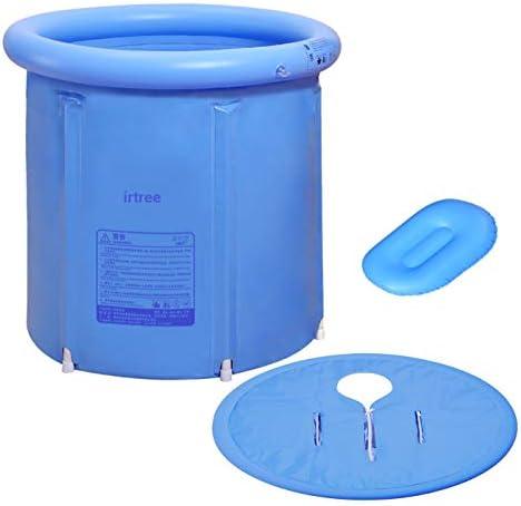Ba/ñera plegable con tapa para adultos de PVC con accesorios de ba/ño